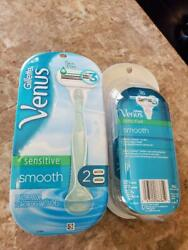 GILLETTE VENUS SKIN ELIXIR SENSITIVE SMOOTH RAZOR w 2 CARTRIDGE SETS $7.99