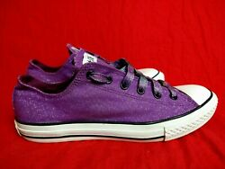 Converse All Star Women 6 Purple Glittery Sparkly Sneaker Shoes $57.60