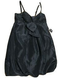 NEW Black Prom Cocktail Dress Short Formal Evening NWT Size 8 Madison Leigh 80's $11.00