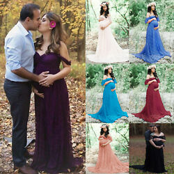 Womens Maternity Long Dress Pregnant Photo Photography Props Shoot Party Gown $35.99