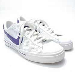 Nike Mens 13 Sweet Classic Sneakers White Purple Lace Up Low Top 2009 $25.37