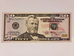 2013 $50 Dollar Bill Star * Note Crisp Bill $70.00