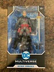 McFarlane DC Multiverse Batman Unmasked Flashpoint Action Figure IN HAND Rare $35.95