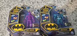 Dc SPIN MASTER TRANSLUCENT SUPER RARE CHASE PIECES THE JOKER AND BATMAN VHTF NEW $36.00