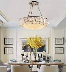 K9 Crystal Chandeliers Glass Shade Home Lighting Pendant Lamp Ceiling Fixtures $139.49