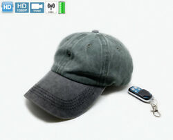 Small Ink blue grey Hat 1080P HD 5 Hours battery mini micro camera Recorder DVR $61.04