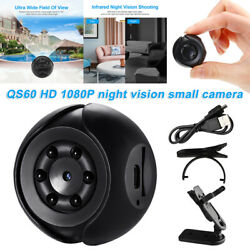 Night Vision Small Camera QS60 HD1080p Wide Field Portable Accessories charged) $12.79