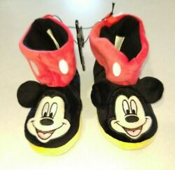 BOYS Slipper booties new size 11 12 Disney Mickey Mouse red BLACK NEW TAG $8.00