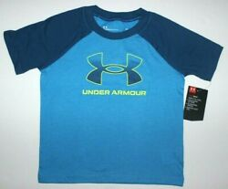 Toddler Boys 3T or 4T Under Armour T shirt short sleeved top Electric Blue New $10.95