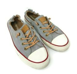 Converse All Star Womens Size 9 Gray Canvas Shoreline Slip On Sneakers 551620 $35.99