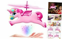 2021 Girls Unicorn Toys Gifts Flying Fairy Unicorn Drone Helicopter Ball $26.64