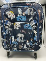 New Pottery Barn Kids Star Wars Rolling Small Luggage $76.46