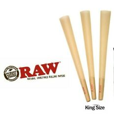 RAW Classic KING SIZE Cones Rolling Papers 50 Pack Pre Rolled w Filter BULK $11.74
