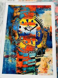 Rolex wall art canvas paintings abstract.. Brand New 24x16 *Frame Not Included * $29.99
