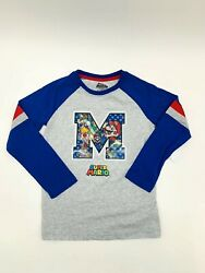 Super Mario Nintendo Boys Novelty Long Sleeve Tee Size Medium 8 NEW $12.95