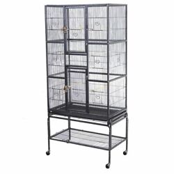 Bird Parrot Cage Chinchilla Cockatiel Conure Large W Stand amp; Two Doors New $29.99