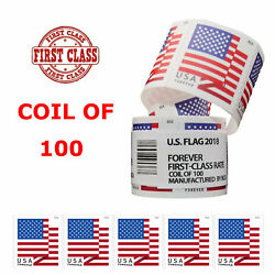 2018 USPS US Forever Flag Postage Stamps Roll of 100 Stamps Free amp; Fast Shipping $31.34
