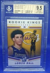 Lonzo Ball 2017 18 Panini Donruss Rookie Kings #2 BGS 9.5 Rookie Lakers RC