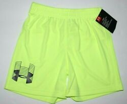 Boys 3T Shorts Under Armour heat gear #x27;x ray#x27; neon yellow New w tags $12.95