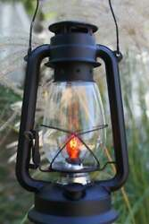 Electric Lantern Table Lamp FLAT BLACKDimmer Switch Handmade Rustic Lamp Ker $41.55