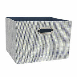 Lambs amp; Ivy Blue Foldable Collapsible Storage Bin Basket Organizer with Handles $19.99