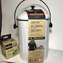 BEHRENS INDOOR COUNTERTOP COMPOST PAIL 1.5 GAL WITH BAGS AND CHARCOAL FILTER $35.00