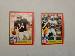 1985 Topps Star Set Insert Lot of 2 HOFers Walter Payton amp; Dan Marino RARE $10.50