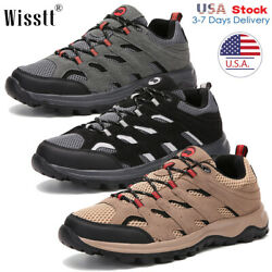 Men#x27;s Hiking Boots Trekking Trail Shoes Waterproof Outdoor Casual Work Low Top P $29.99