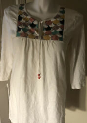 Boden Boho Dress Size 12 Embroidered Bodice $25.00