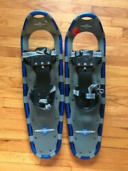 L.L. Bean Mens Winter Walker Snowshoes Size 15 Blue $50.99