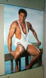 Sexy Buff RICK DIETZ Vintage 1991 Poster last one $13.99