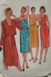 BUTTERICK 6842 MISSES TEEN DRESSES amp; JACKET PATTERN SIZE SMALL 8 10