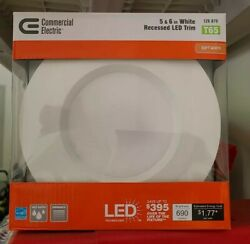 Commercial Electric 5 in. and 6 in. White Integrated LED Recessed Trim T65