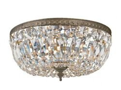 Crystorama Lighting 714 EB CL MWP 3 Light Flush Mount in classic elegant and $347.40