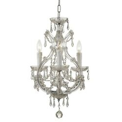 Crystorama Lighting 4473 CH CL MWP Maria Theresa Three Light Mini Chandelier $398.00