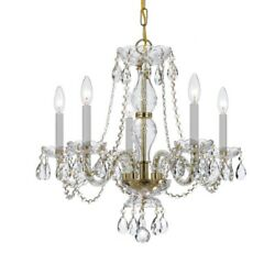Crystorama Lighting 5085 PB CL MWP Crystal Five Light Chandelier in classic $293.40