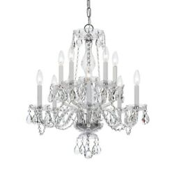 Crystorama Lighting 5080 CH CL MWP Crystal Ten Light 2 Tier Chandelier in $491.40