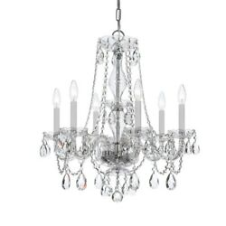 Crystorama Lighting 5086 CH CL MWP Crystal Six Light Chandelier in natural $329.40