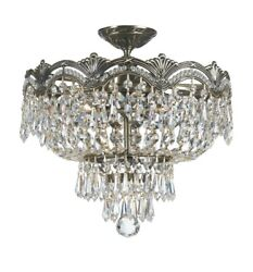 Crystorama Lighting 1483 HB CL MWP Majestic Crystal 3 Light Ceiling Mount Cast $491.20