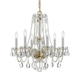 Crystorama Lighting 5086 PB CL MWP Crystal Six Light Chandelier in natural $329.40