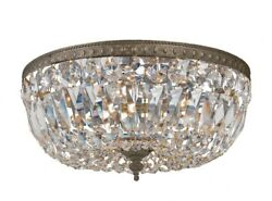 Crystorama Lighting 712 EB CL MWP Three Light Flush Mount in traditional and $330.00