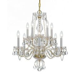 Crystorama Lighting 5080 PB CL MWP Crystal Ten Light 2 Tier Chandelier in $491.40