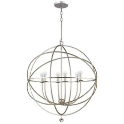 Crystorama Lighting 9226 OS Solaris Six Light Chandelier in minimalist Style $398.00