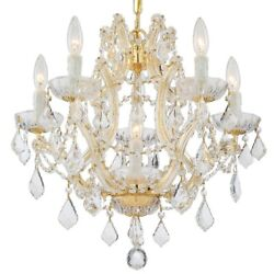 Crystorama Lighting 4405 GD CL SAQ Maria Theresa Six Light Mini Chandelier in $747.20