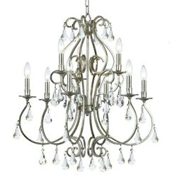 Crystorama Lighting 5019 OS CL MWP Ashton Nine Light Chandelier in traditional $950.00
