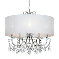Crystorama Lighting 6625 CH CL MWP Othello 5 Light Chandelier in classic $750.00