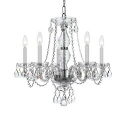 Crystorama Lighting 5085 CH CL MWP Crystal Five Light Chandelier in classic $293.40