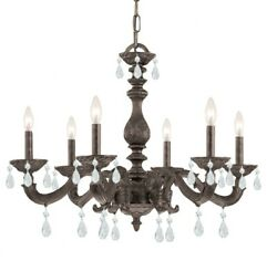 Crystorama Lighting 5036 VB CL MWP Paris Market Six Light Chandelier in $443.20
