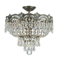 Crystorama Lighting 1483 HB CL S Majestic Crystal 3 Light Ceiling Mount Cast $1115.20