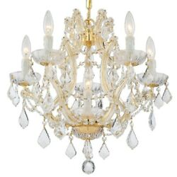 Crystorama Lighting 4405 GD CL S Maria Theresa Six Light Mini Chandelier in $1035.20